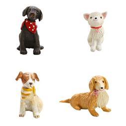 Stock Show Cute Cartoon Mini Pet Dog Resin Ornaments Childre