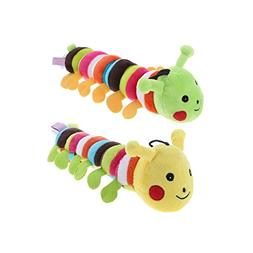 Stock Show 2Pcs 11 Inch Cute Colorful Caterpillar Doll Small