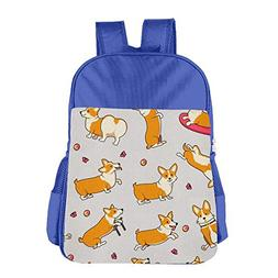 Cute Corgi Adjustable Boys Girls Teens Schoolbag Backpacks B