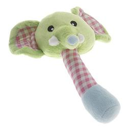 QINF Cute Hand-Operated Elephant Doll Toy with Bells for s D