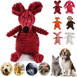 Soft Pet Puppy Chew Play Squeaker Squeaky Funny Cute Plush S
