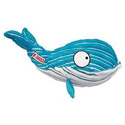 KONG Cuteseas Whale Soft Snuggly Squeaker Crinkle Fun Intera