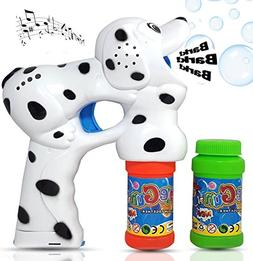 Haktoys Dalmatian Dog Bubble Gun Shooter Light Up Blower | P