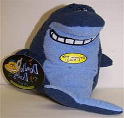 Multipet Deedle Dude Singing Shark Plush Dog Toy, 8-Inch, Bl
