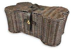 DII Wicker-Like Plastic Pet Toy and Accessory Storage Basket