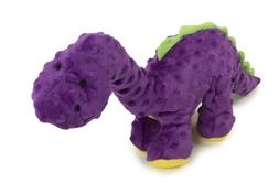 Godog Dinos Bruto With Chew Guard Tough Plush Dog Toy, Purpl