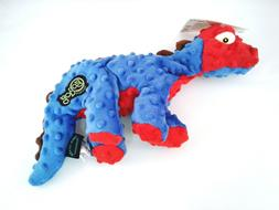 GoDog Dinos Chew Guard Spike Dog Toy, Blue Size Small & Larg