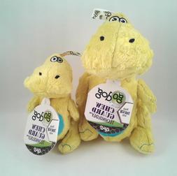 GoDog Dinos Chew Guard T-Rex Dog Toy, Yellow Size Small & La