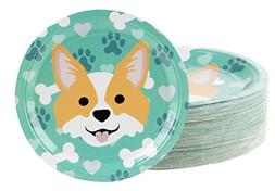Disposable Plates - 80-Count Paper Plates, Dog Party Supplie