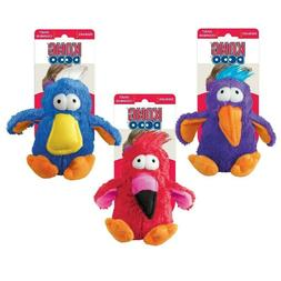 KONG DoDo Quirky Assorted Dog Toy Medium SQUEAKS Soft Colorf