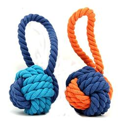 XPangle Dog Ball Toy,Dog Interactive Rope Chew Toys Durable