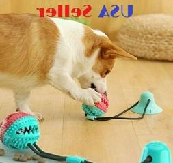 Dog Chew Toy Bite Molar Teeth Cleaning Ball Puppy Suction Cu