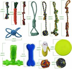 Dog Chew Toys for Puppies Teething, 14 Pack Dog Rope Toys Tu