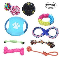 WATTA Dog Chew Toys Rope Toys 10 Pack Set,Including Durable
