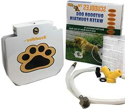 Scuddles Dog Drinking Water Fountain Step On – Outdoor Aut