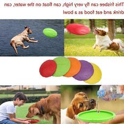 Dog Flyer toy 7 9 inch Frisbee Large Dog Indestructible Rubb