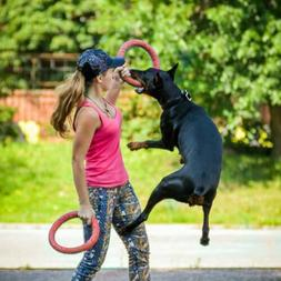 Dog Flying Discs Ring Interactive Training Pet Products Outd