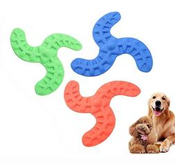 iPetoo Dog Frisbee Toy, 3pcs Pet Boomerang Toy, Soft Flexibl
