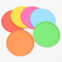18cm Dog Frisbee Toy Soft Silicone Pet Race Training Throwin
