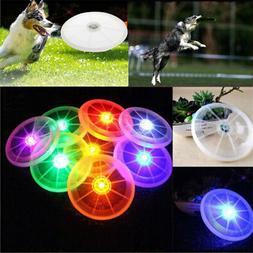 Dog LED Flashing Light Up Flying Disc Outdoor Night Luminous