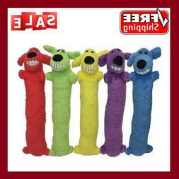 Multipet Loofa Dog Plush Dog Toy Colors May Vary Puppy Toy f