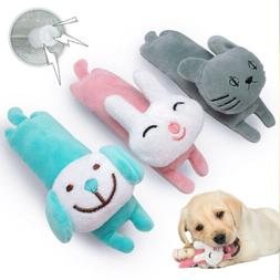 Dog Plush Squeaky Toy Soft Stuffed Blue Chew Toys Sound Sque
