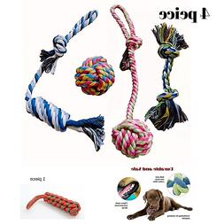 Dog Rope Chew Teething Toys Play Knots Small Medium Puppies