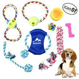 Olieus Dog Rope Toy 10 Pack Gift Set - Training Rope Puppy C