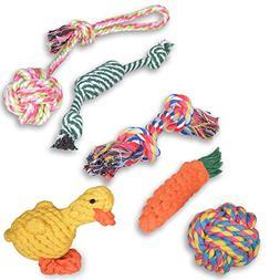 Oziral Dog Rope Toys  Puppy Braided Rope Toys Set Pet Dog Te