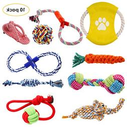 Pedy Dog Rope Toys Set, Pet Play Toys 10 Pack, Puppy Chew Te