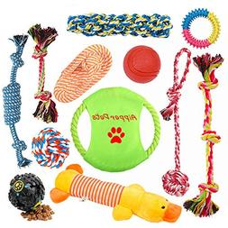 10 Pack Dog Rope Training Toys Puppy Chew Dog Ball Outdoor P