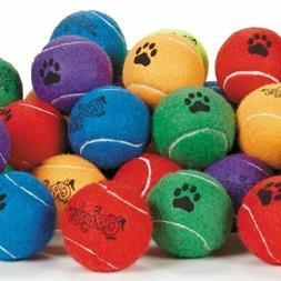Dog Tennis Balls 2.5 inch Extra Durable Colorful Toys Bulk A