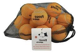 Dog Tennis Balls by Woof Sports - 12 Orange Ecofriendly Ball