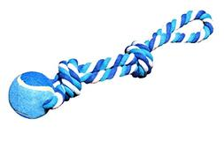 Katikidio Pets Dog Toy, Blue & White 2 Knot, Cotton Rope wit