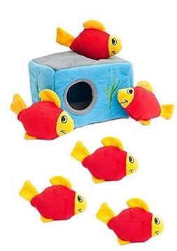 Small Dog Toy, Zippypaws Aquarium Burrow Tough Squeaky Cute