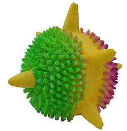 Amazing Pet Products Latex Dog Toy, 3.2-Inch, Spiny Space ba