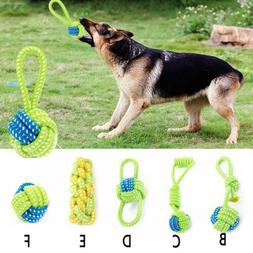 Dog Toy Dog Chews Cotton Rope Knot Ball Grinding Teeth odont