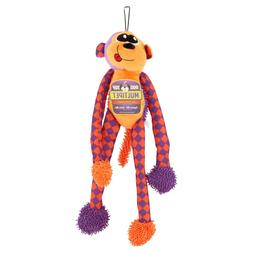 Multipet Dog Toy Multicrew Monkey 6 Squeakers, Choose Color,