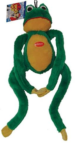 Boss Pet Plush Frog Long Jumper with Squeaker and Extra Long