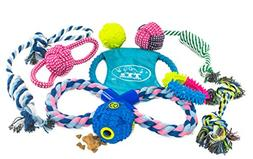 Ty's Pet Corner Dog Toy Variety Pack of Rope Toys, Rope Ball