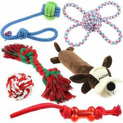 Dog Toys and Chew Toys Natural Cotton Rope Squeak Dog Balls