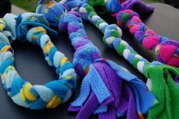 Dog Toys Fleece Braided Ropes Handmade Set of 25