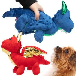 Dragon Dog Toy Plush Soft Squeaker Crinkle Sound Safe Comfor