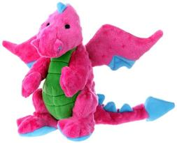 GoDog Dragons Chew Guard Dog Toy, Pink, Large