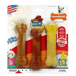 Nylabone Dura Chew BBQ Chicken Triple Pack Dog Toys, Regular