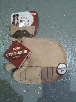 Spot Dura Fused Leather Squeaky Dog Toy