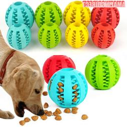 Durable Pet Rubber Ball Chew Dog Puppy Teething Dental Healt