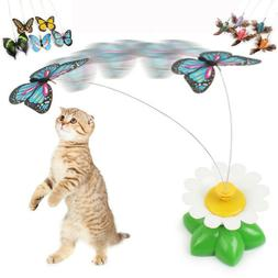 Electric Rotating Butterfly Bird Rod Wire Cat Teaser Toys Fo