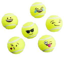 Ethical Pets Emoji Tennis Ball Dog Toy