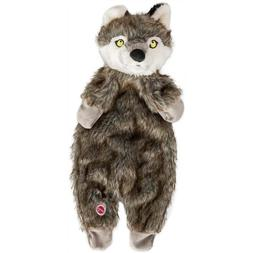 Spot Ethical Furzz Wolf Pet Squeak Dog Toy